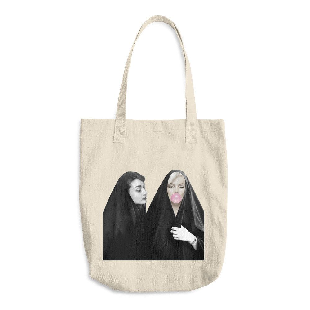 Audrey And Marilyn Arabic Tote Bag