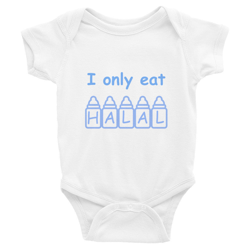 I Only Eat Halal Arabic Baby Onesie