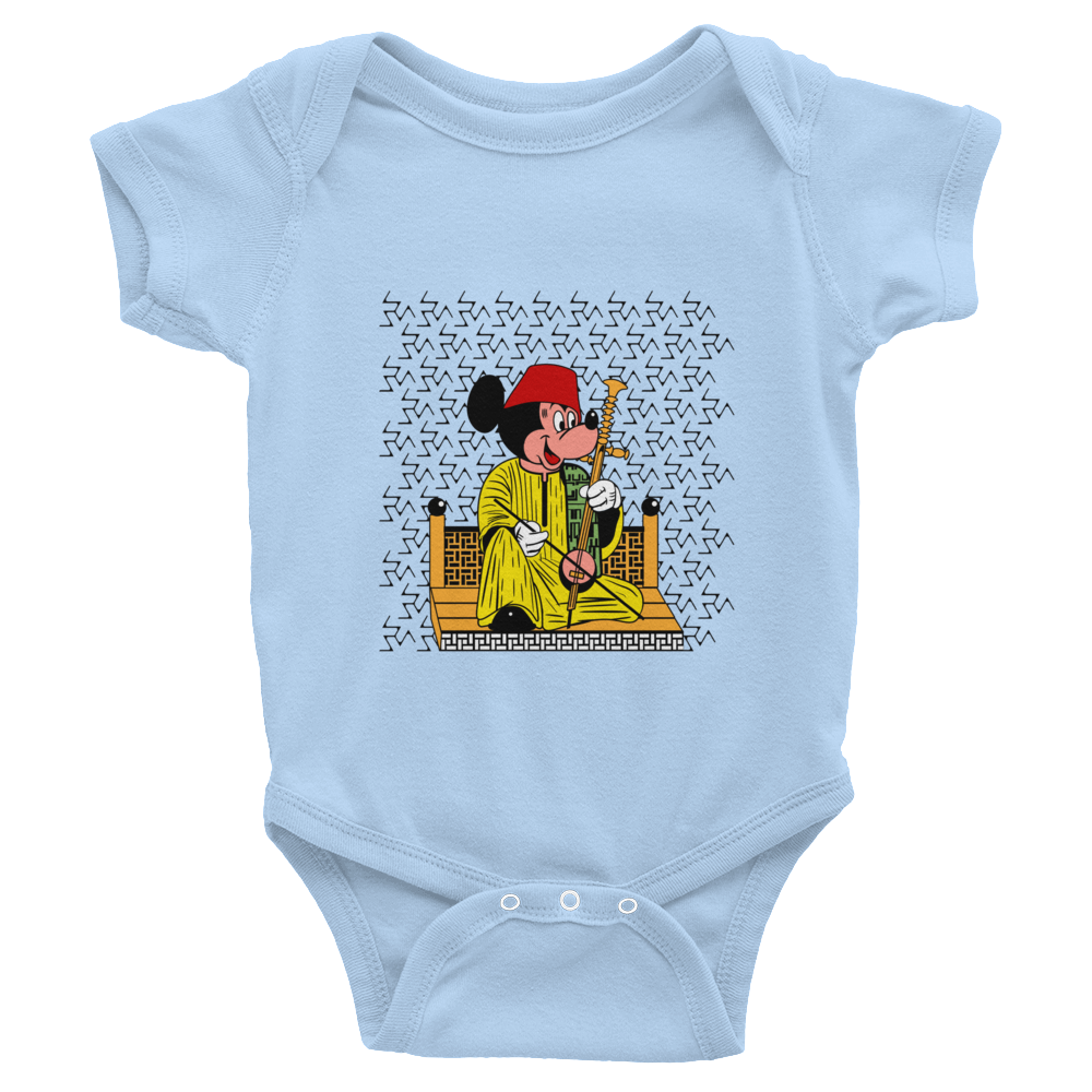 Mickey in Tarboush Arabic Baby Onesie