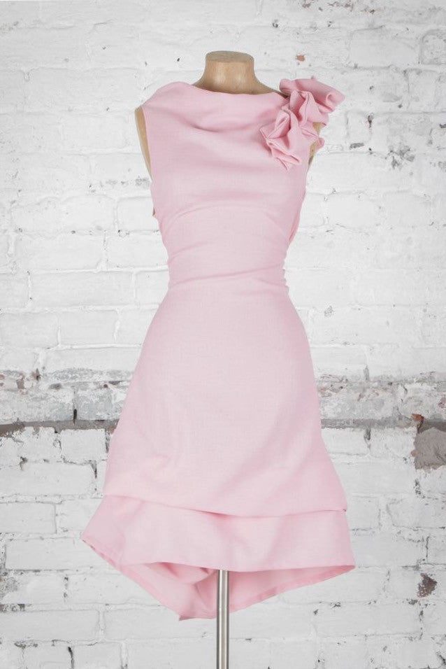 Anna Ruffle Dress Pale Pink