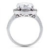 Sterling Silver Clear Round CZ Ring - thingsthatsparkleni.co.uk