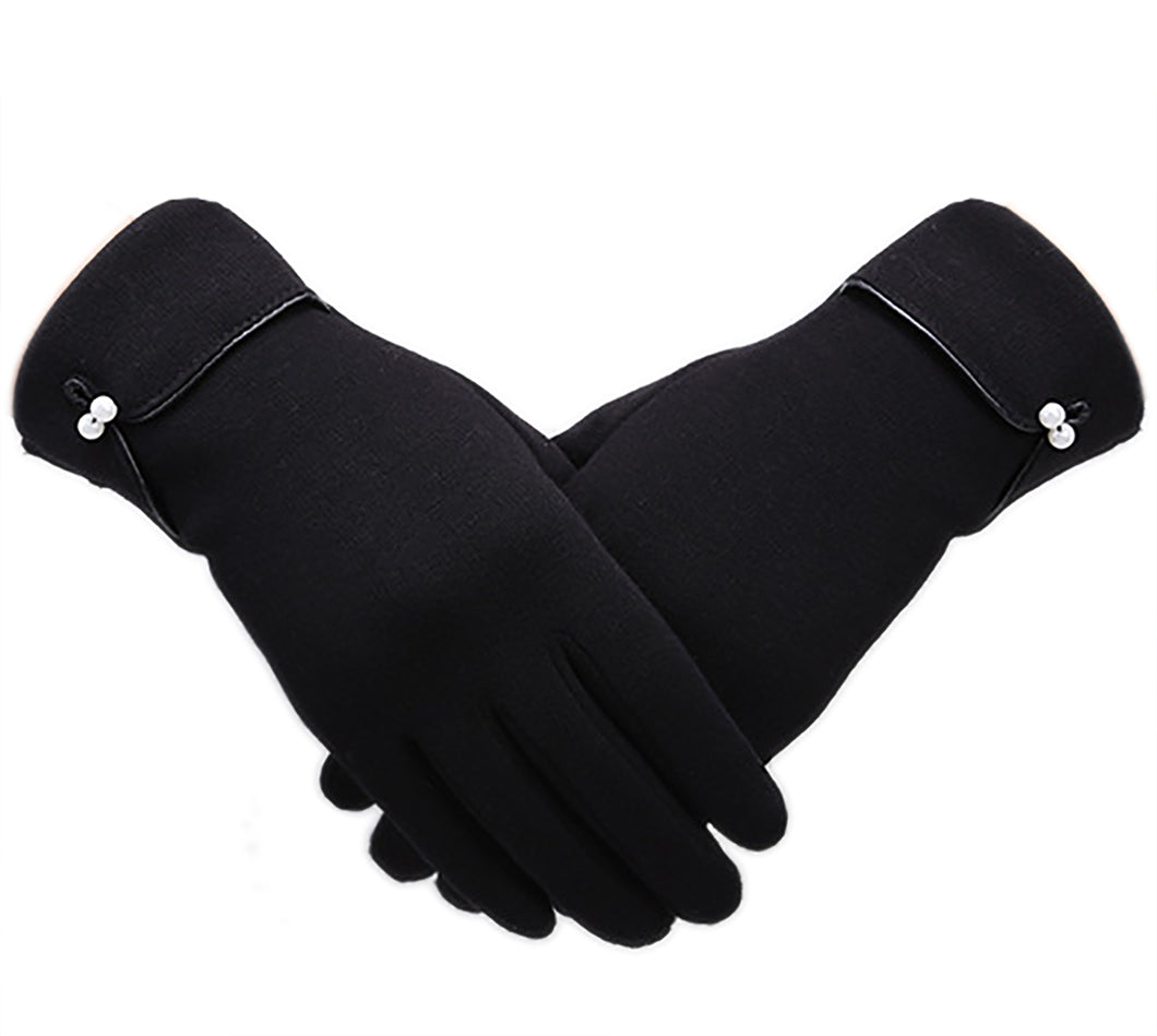 Knolee NEW Warm Winter Elegance Womens Thick Lining Touchscreen Gloves
