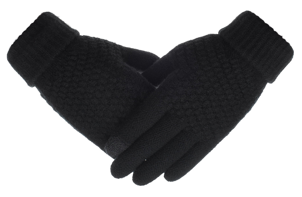 Knolee Men&Women NEW Gloves Screen Warmer Winter Knitted Twist Thick Gloves