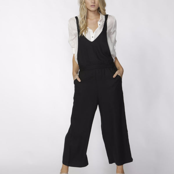 white serenade summer shirt by Fate & Becker with messina jumpsuit