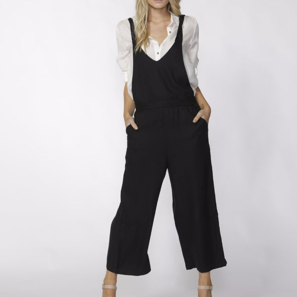 fate and becker messina jumpsuit convertible black jumpsuit with serenade summer shirt
