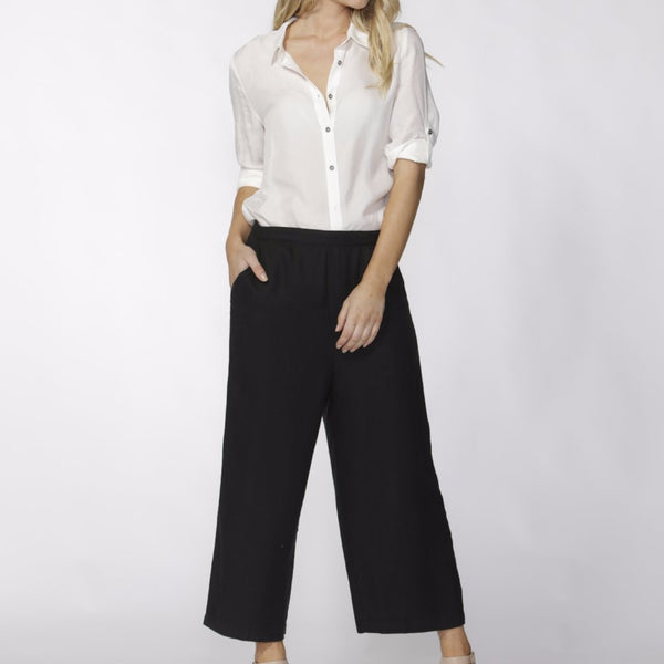 worn as pants fate and becker messina jumpsuit convertible black jumpsuit with serenade summer shirt