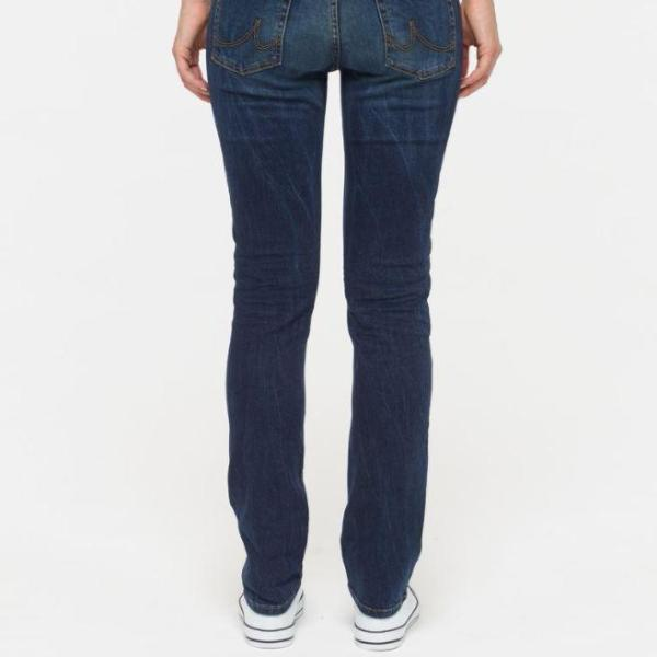 LTB Aspen straight leg jean back view classic blue undamaged denim