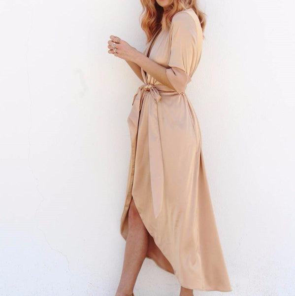 The Satin Maxi-dress-Never Fully Dressed-Style Kit
