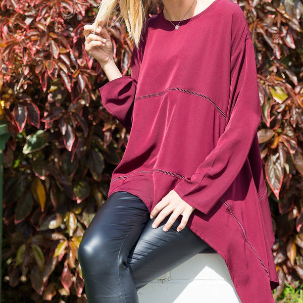 wine oversize tunic ladder detail bagira the label