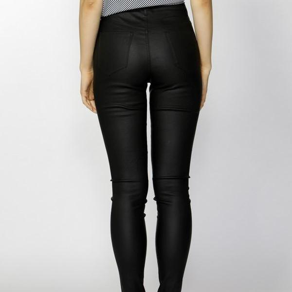 Fate & Becker Ynez essential coated pant black back