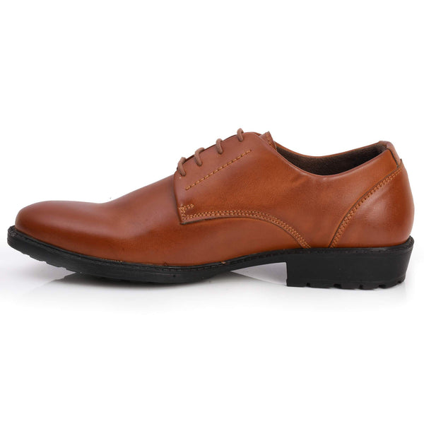 Formal Tan Lace-up Shoes