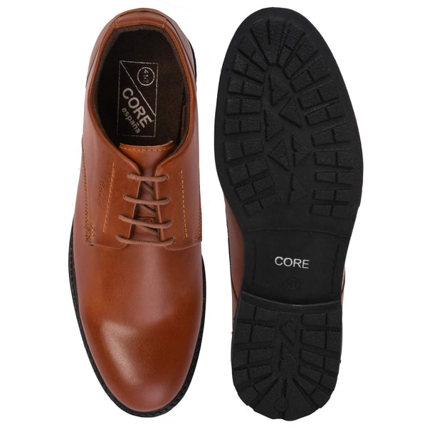 Tan Synthetic Formal Shoes