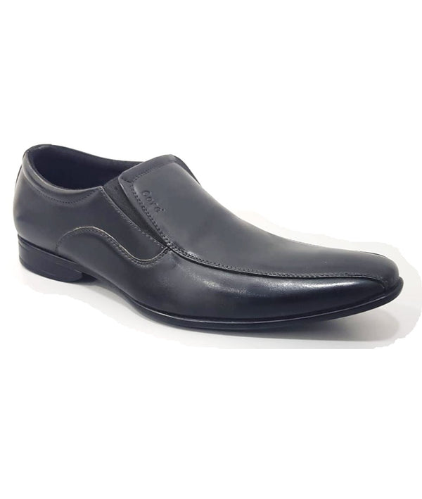 Formal Synthetic Leather Slip-on Loafer Shoes-Black