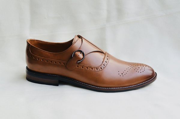 Monks Tan Brown Shoes