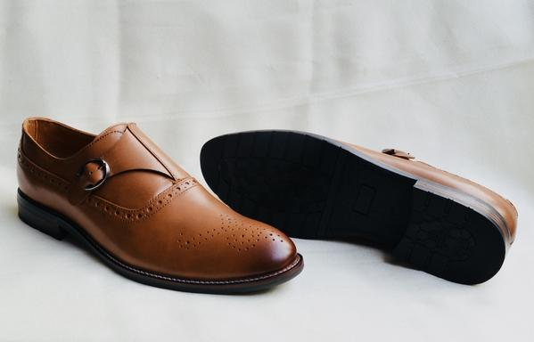 Leather Monks Shoes