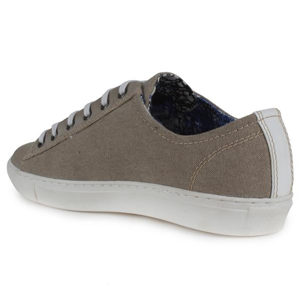 Beige Canvas Shoes