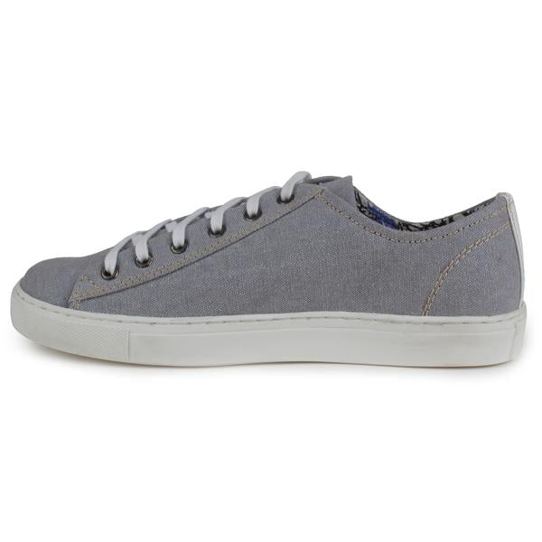 Grey Lace-Up Shoes