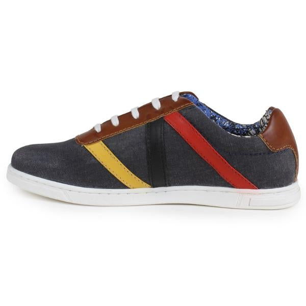 YZFeet Mens Casual Canvas Shoes - Grey