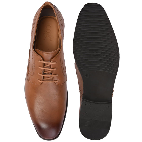 Lace-Up Tan Shoe