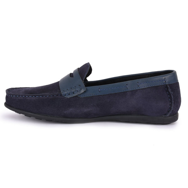 Navy Loafer Shoe