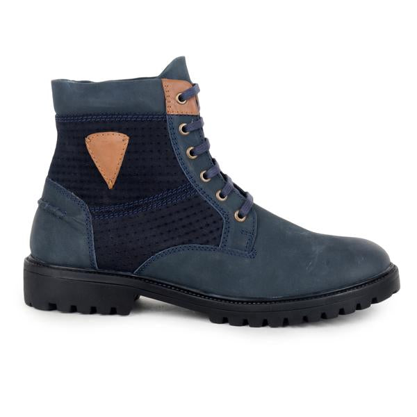 Blue Leather Boot
