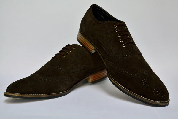 Leather Suede Oxford Brogues