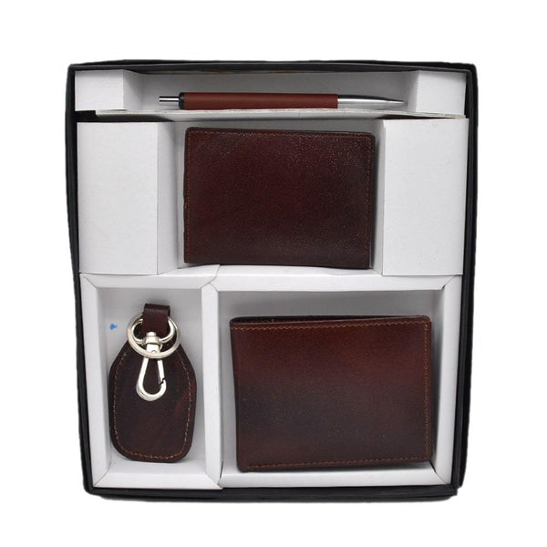 4 in 1  Pure Leather Gift Set