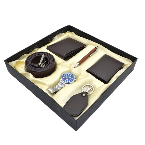6 in 1 combo 100% Leather Gift Set