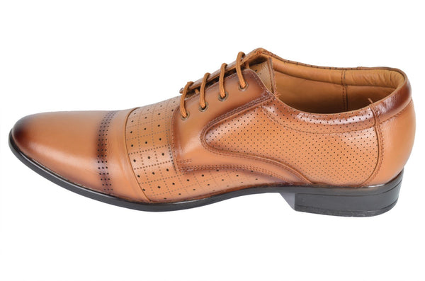 Tan Leather Derby Shoe
