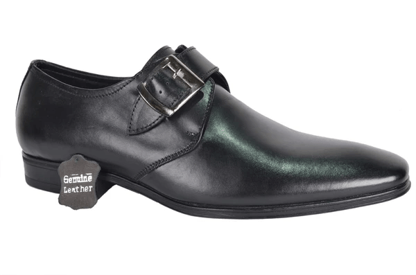 YZFeet Mens Formal Leather Monk Shoes