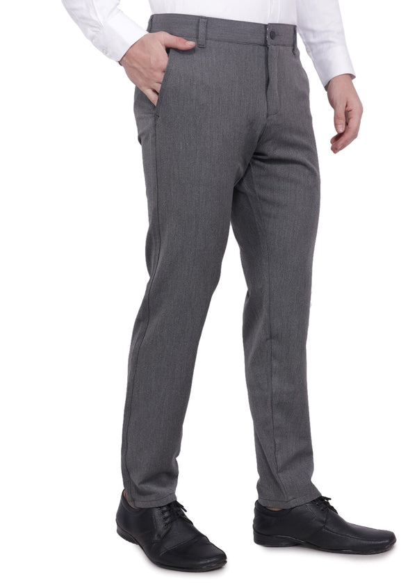 Men's Dark Grey Formal Trousers