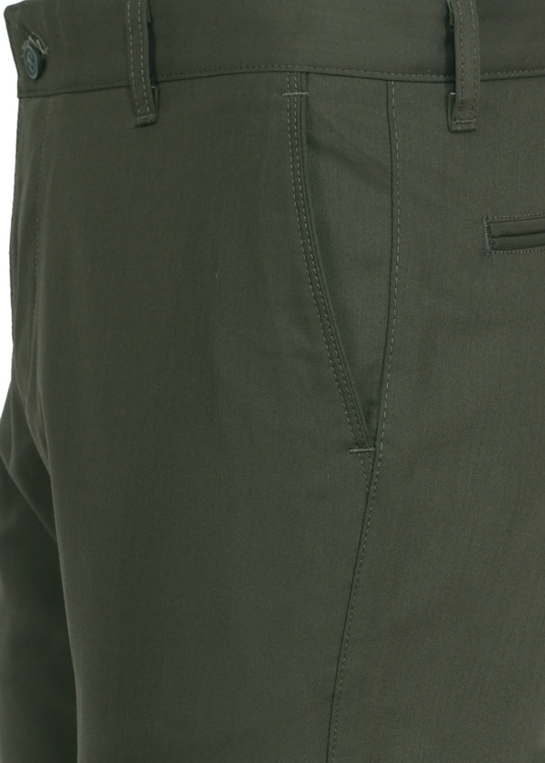 Men's Dark Green Formal Trousers