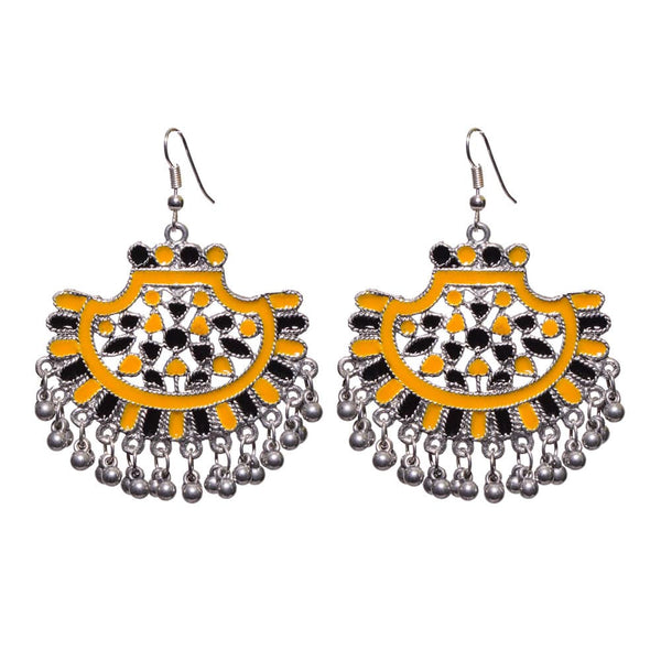Afghani Yellow and Black Jhumka