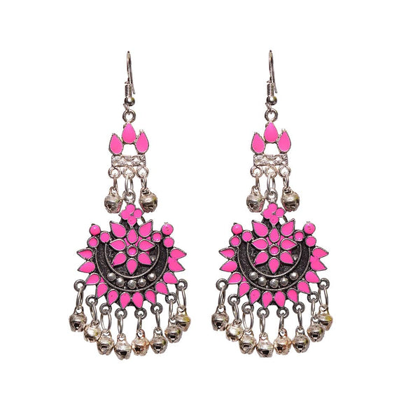 Afghani Silver and Pink earring