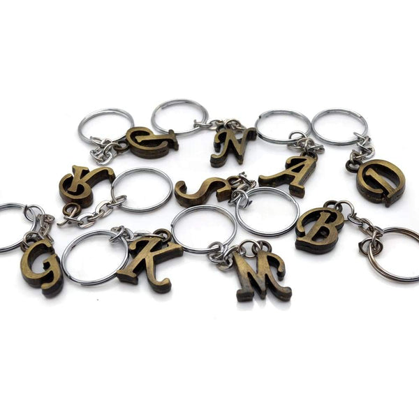 Alphabet Keyring In P Shape