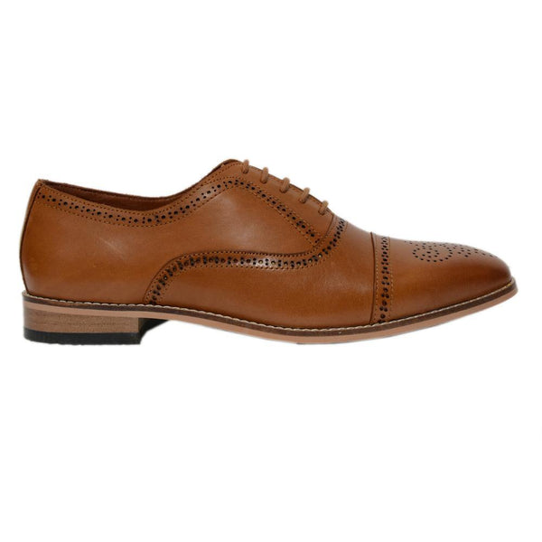Tan Casual Leather Shoes