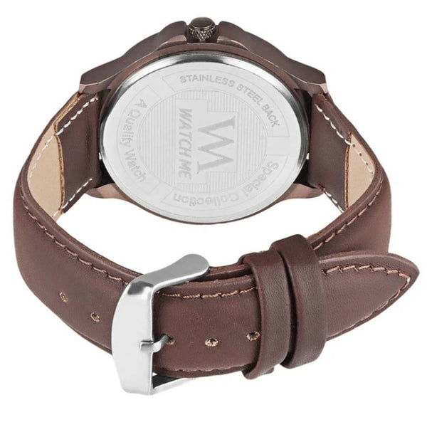 Analog Brown Dial Brown Watch For Men