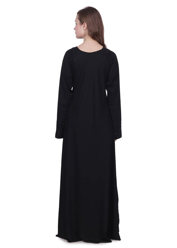 Black Golden Embroidered Abaya