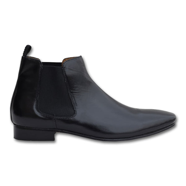 Black Casual Genuine Leather Boot Shoes