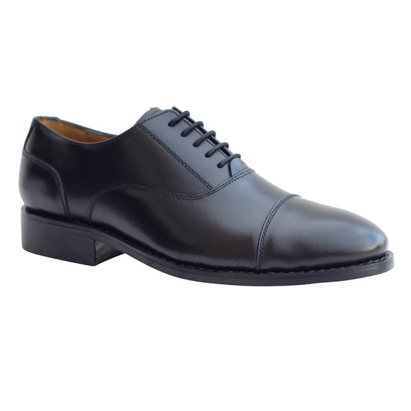 Black Formal Genuine Leather Oxford Lace-up Shoes