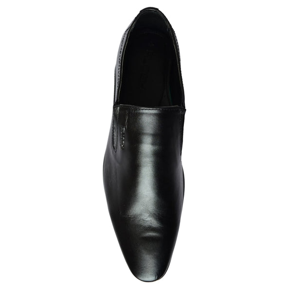 Black Formal Leather Slip-On Loafers & Moccasins  Shoes