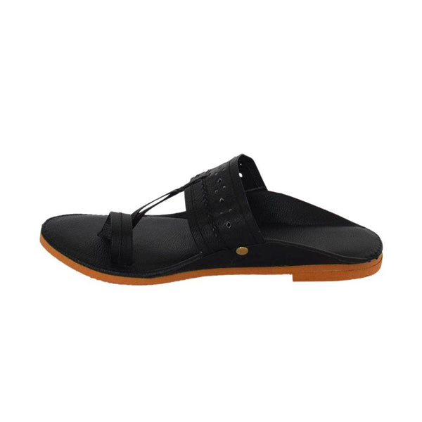 Black Kolhapuri Juttis for Men