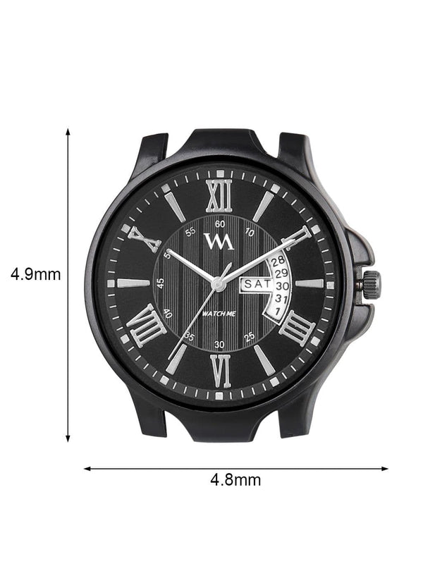 Black Leather Men's Analog Watch