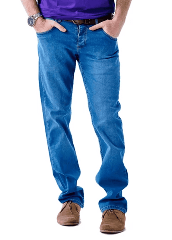 Blue Comfort Fit Mens Denim Jeans