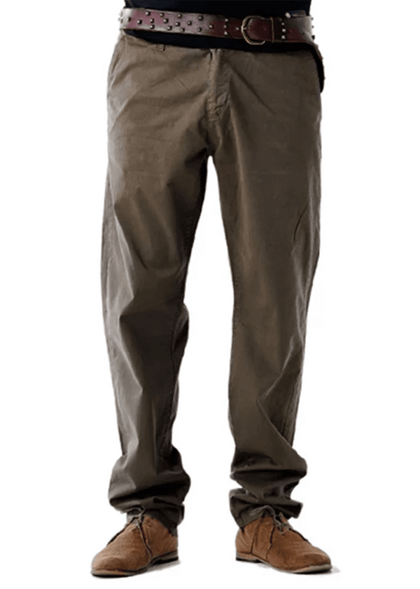 Mens Green Comfort Fit Trouser