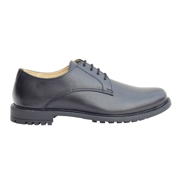 Black Genuine Leather Derby Shoes