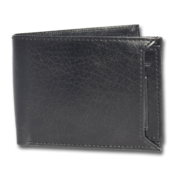 Black Two-Fold Leather Wallets for Men