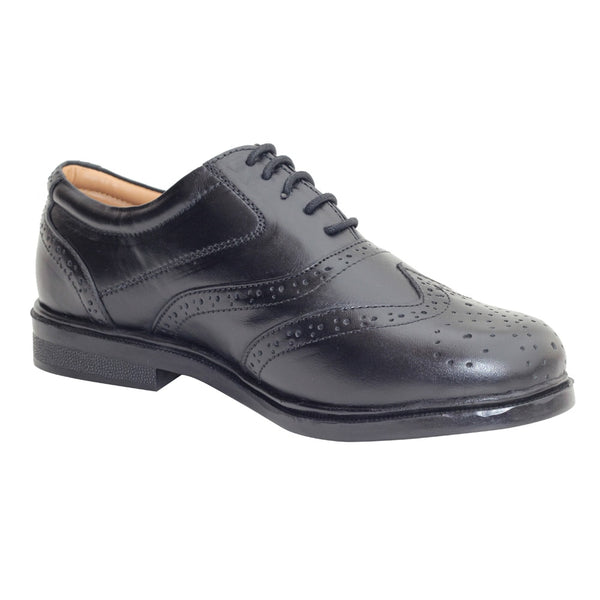 Black softi Leather Brogues Shoes