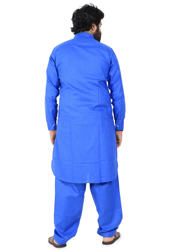 YZBuyer Blue Pathani Kurta Set