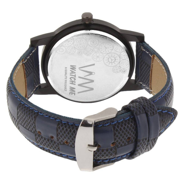 Blue Colour Leather Strap With Multi-Colour Dial Watch for Kids